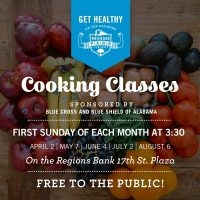 Get Healthy on the Railroad Cooking Classes Presented by Blue Cross and Blue Shield of Alabama