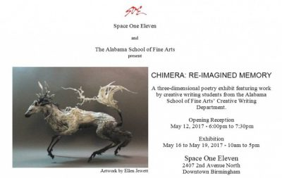 SOE and Alabama School of Fine Arts present Chimera, a 3D poetry exhibition