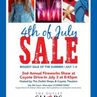 The Outlet Shops of Grand River 4th of July Sale and 2nd Annual Fireworks Show at Coyote Drive-in