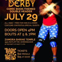 Roller Derby & Comic Book Fun: double header of local superheroes