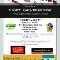 Eyewear Trunk Show & Summer Luau Featuring Ray Ban & Prodesign