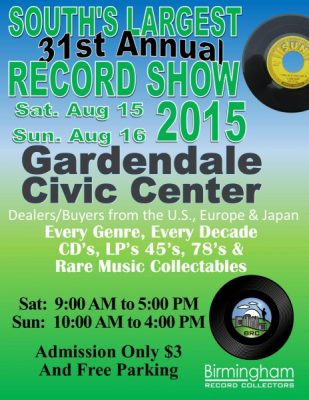 Birmingham Record Collectors Record and CD Show