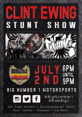 Big #1 Motorsports Presents: CLINT EWING & THE PURPLE CRUSH  TOUR