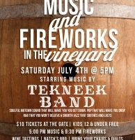Music & Fireworks in the Vineyard