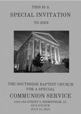 Old Time Religion Communion Service