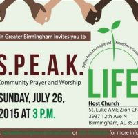 S.P.E.A.K. Life! A Gathering of Prayer and Worship