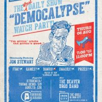 Last Jon Stewart/First GOP Clown Car Debate Watch Party