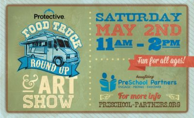 4th Annual Protective Life Food Truck Round Up + Art Show benefitting PreSchool Partners