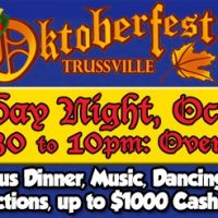 Oktoberfest Trussville Dinner/Dance with Auctions and $1000 in cash drawings
