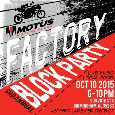 Motus Motorycycles Factory Block Party