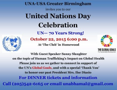 UNA-USA Banquet - Celebrating 70 Years of the United Nations