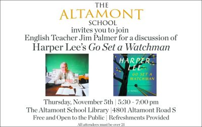 """""""Go Set a Watchman"""" Discussion with English Teacher Jim Palmer"""