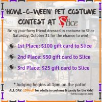 Howl-O-Ween Pet Costume Contest at Slice