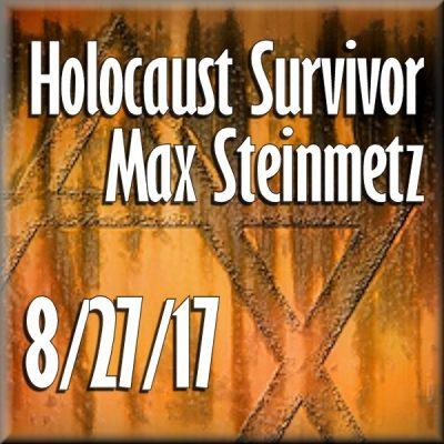 Book signing with Holocaust Survivor Max Steinmetz...