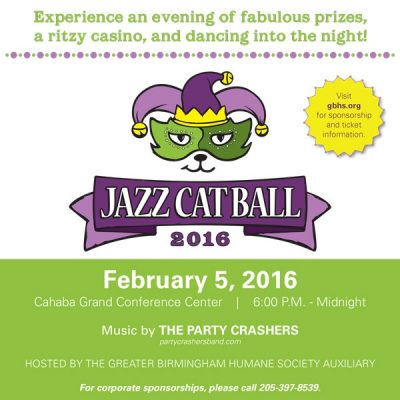 Jazz Cat Ball 2016 benefiting the Greater Birmingham Humane Society