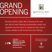 English Village's Gallery Bar to Hold Grand Opening Event Jan. 21