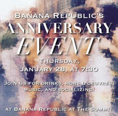 Banana Republic's Anniversary Event