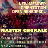 New Member Orientation and Open Rehearsal