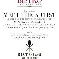 Artist Meet & Greet at Bistro 218