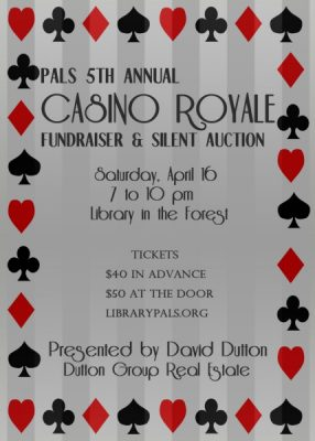 PALS 5th Annual Casino Royale Fundraiser & Silent Auction
