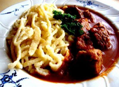 Traditional German Dinner
