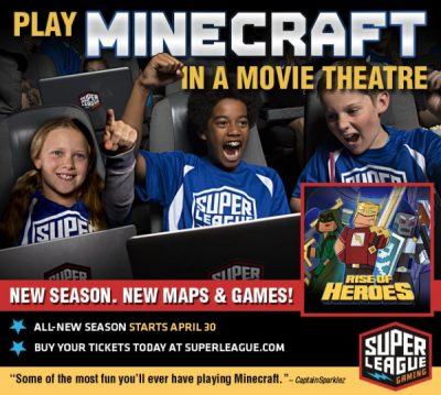 Play Minecraft in a Movie Theatre!
