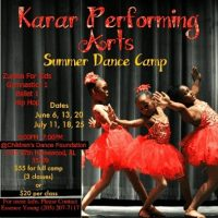 Karar Performing Arts Summer Dance Camp!
