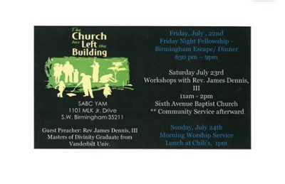 Sixth Avenue Baptist Church Young Adult Ministry Conference