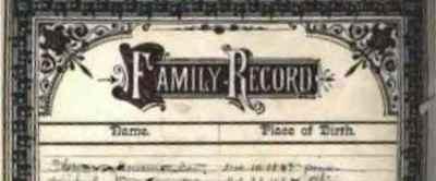 Family Bible Records Preservation Workshop